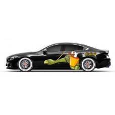 Бортовая наклейка на  авто